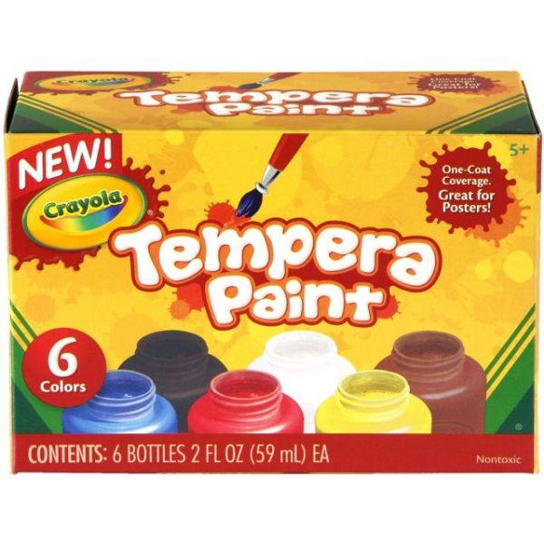 Crayola Tempera Paint Set 2oz 6/Pkg