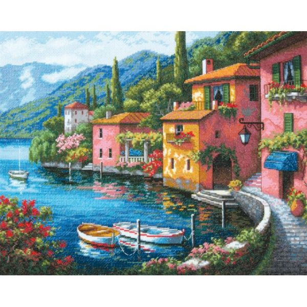 Gold Collection Lakeside Village Counted Cross Stitch Kit