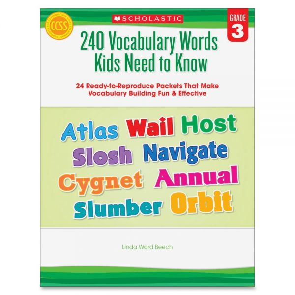 Scholastic Grade-3 240 Vocabulary Words Book Education Printed Book