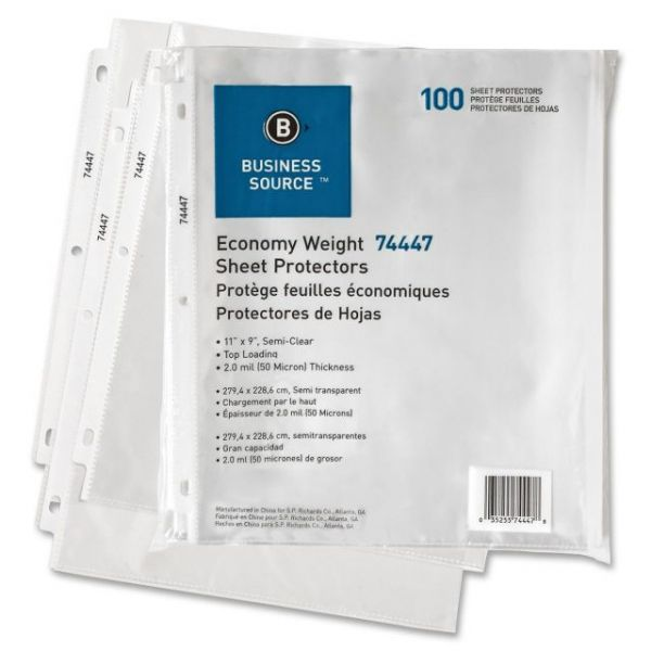 Business Source Top Loading Sheet Protectors