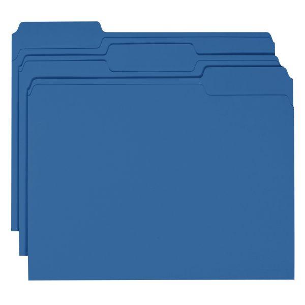 Smead Navy Blue Colored File Folders