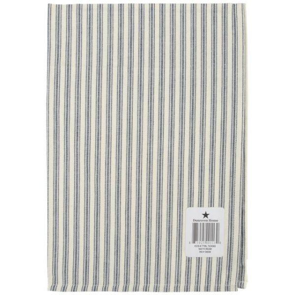 "Cream Ticking Stripe Towel 20""X28"""