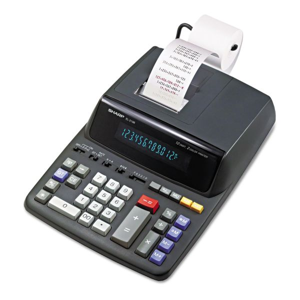 Sharp EL-2196BL Printing Calculator