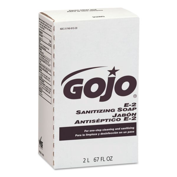 GOJO E2 Sanitizing Lotion Hand Soap Refills