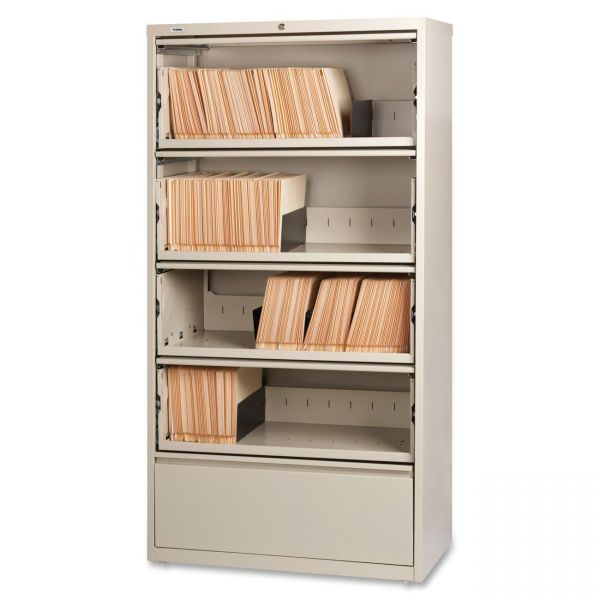 Lorell 5 Drawer Lateral File Cabinet
