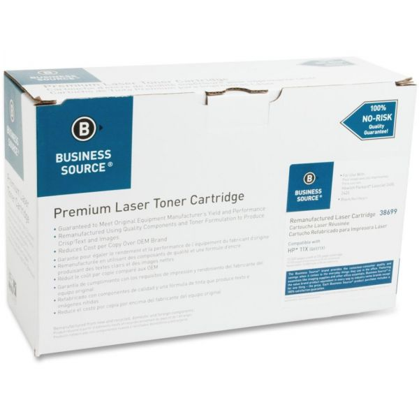 Business Source Remanufactured HP 11X (Q6511X) High Yield Toner Cartridge