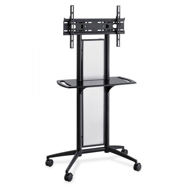 Safco Impromptu Flat Panel TV Cart, 38w x 20d x 65-1/2h, Black