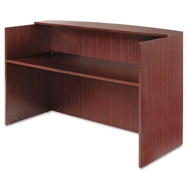 Alera Alera Valencia Series Reception Desk w/Counter,71w x 35 1/2d x 42 1/2h, Mahogany