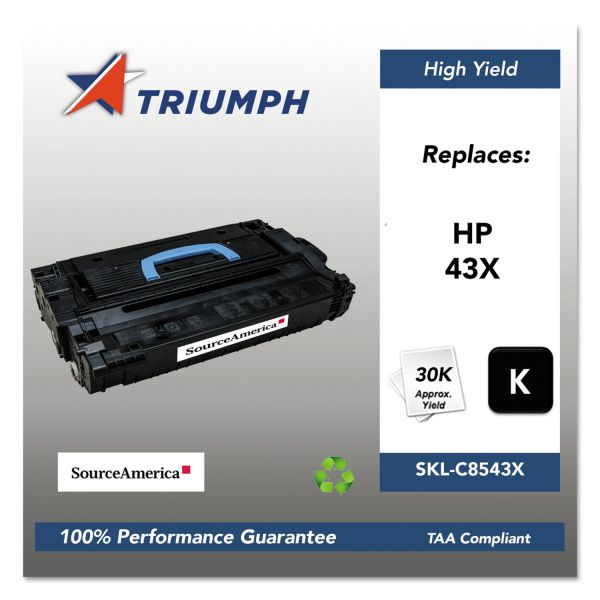 SKILCRAFT Remanufactured HP 43X (C8543X) High-Yield Toner Cartridge