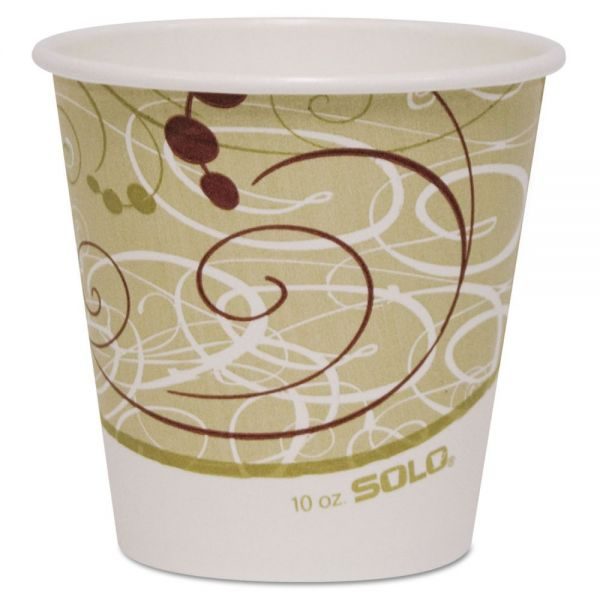 Dart Polycoated Hot Paper Cups, 10 oz, Symphony Design, 1000/Carton