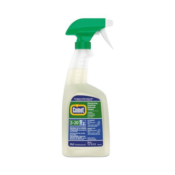 Comet Disinfecting-Sanitizing Bathroom Cleaner, 32 oz. Trigger Bottle, 8/Carton