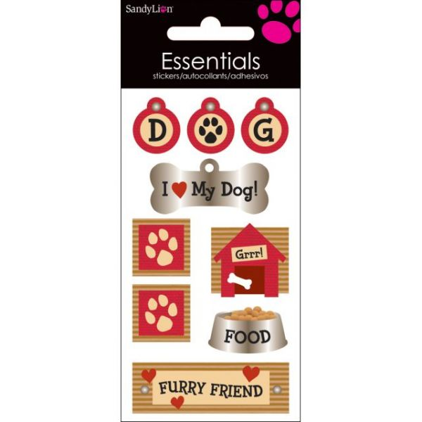 SandyLion Essentials Dimensional Stickers