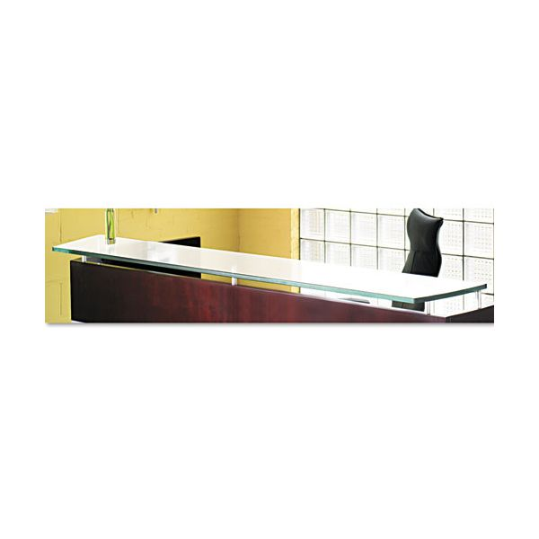 Tiffany Industries Napoli Veneer Glass Reception Counter, 86 1/2W x 15 1/4D