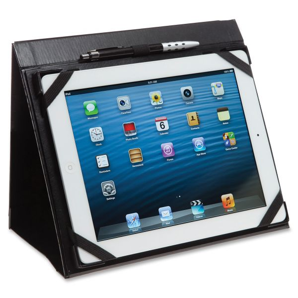 Blueline i-Pal Notes, iPad Case/Easel/Notepad Holder, Classic, Black