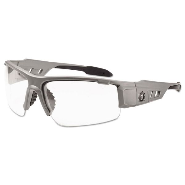 Ergodyne Clear Lens/Gray Half Frame Safety Glasses
