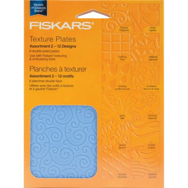 Texture Plate Double-Sided Assortment II 6/Pkg