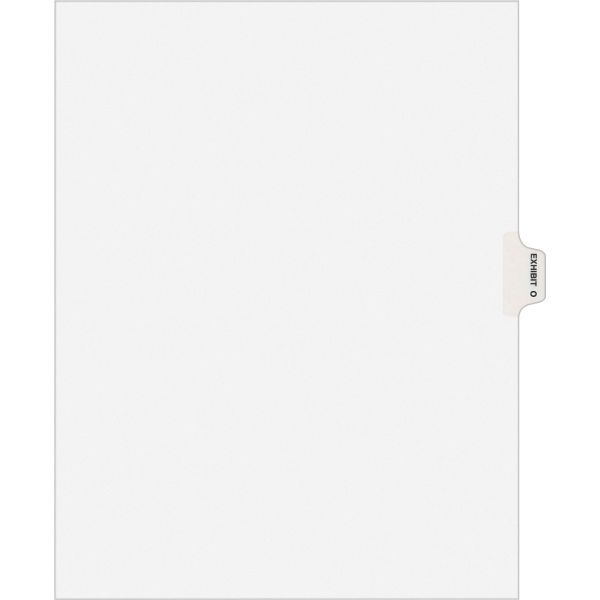 Avery-Style Preprinted Legal Side Tab Divider, Exhibit O, Letter, White, 25/Pack