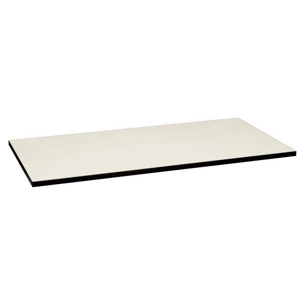 HON Huddle Multipurpose Rectangular Top, 60w x 30d, Silver Mesh/Black