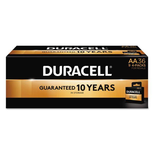Duracell CopperTop Alkaline Batteries, AA, 36/PK