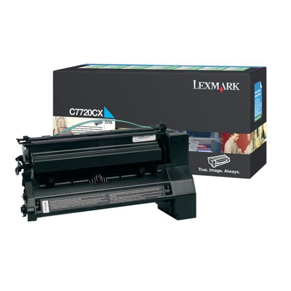 Lexmark C7720CX Cyan Extra High Yield Return Program Toner Cartridge