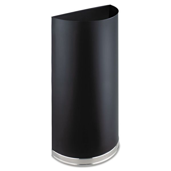 Safco Half-Round 12.5 Gallon Trash Can With Lids