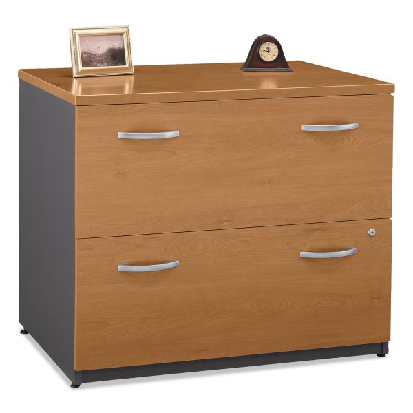 Bush Series C Collection 2 Drawer 36W Lateral File (Assembled), Natural Cherry