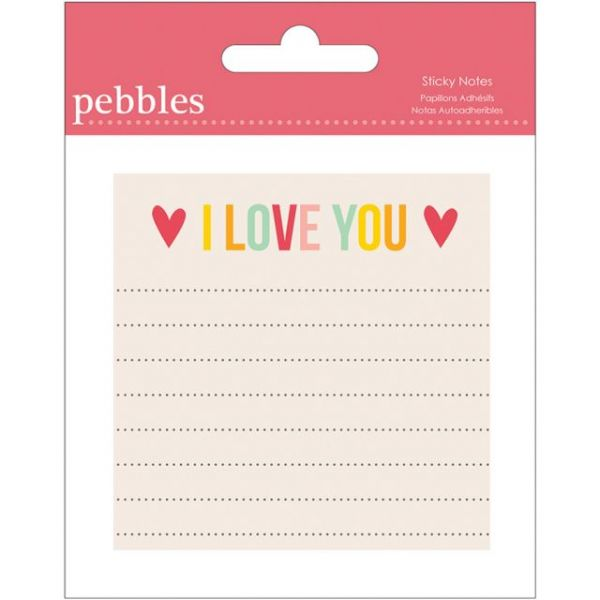"Love You More/Girl Sticky Notes 3""X3"" Pad"