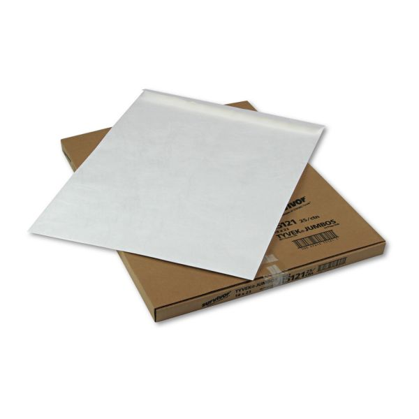 Survivor Tyvek Jumbo Mailer, 18 x 23, White, 25/Box