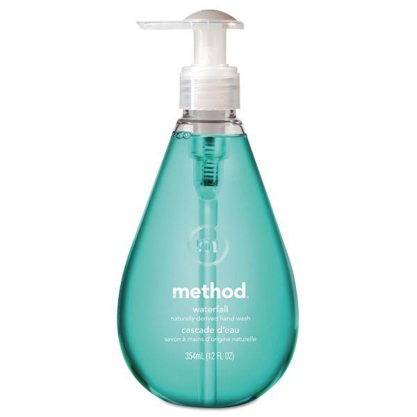 Method Gel Hand Wash, Waterfall, 12 oz Pump Bottle