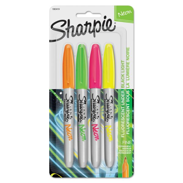 Sharpie Neon Fine Point Permanent Markers