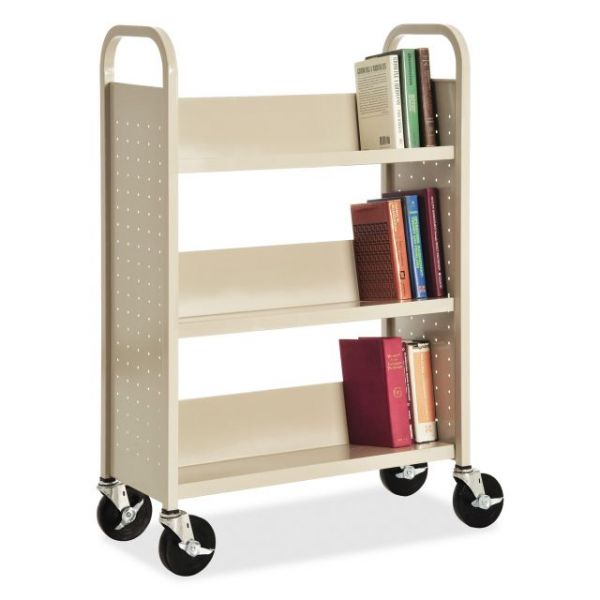 Lorell Single-sided Book Cart