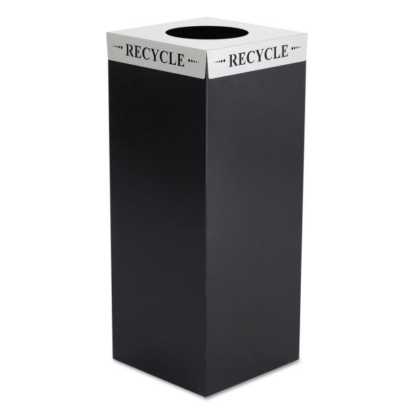 Safco Square-Fecta Lid, Recycle, Silver