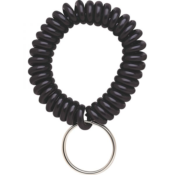 SteelMaster Wrist Coil with Key Ring, Black
