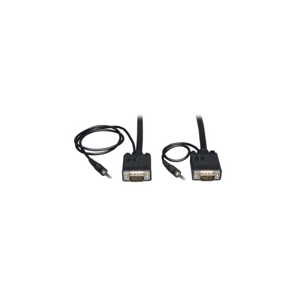Tripp Lite VGA Coax Monitor Cable with audio, High Resolution cable with RGB coax