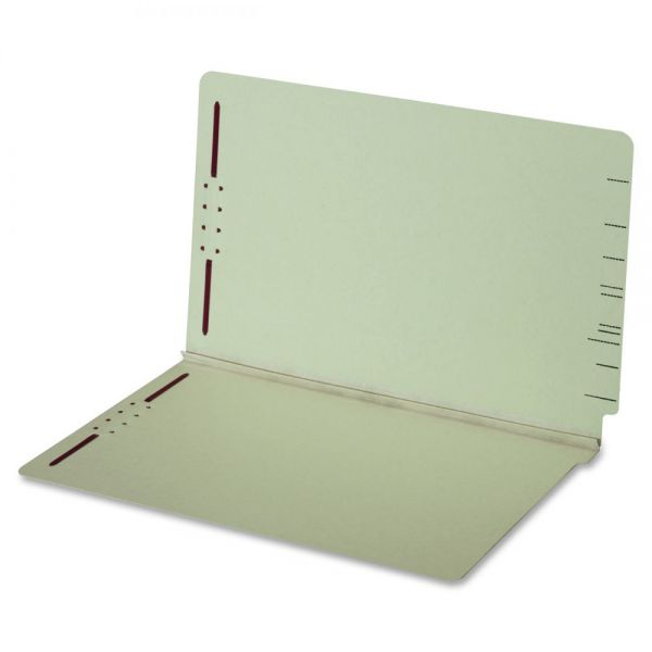 Globe-Weis End Tab Pressboard Folder with Fastener