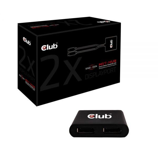 Club 3D Multi Stream Transport (MST) Hub DisplayPort 1-2