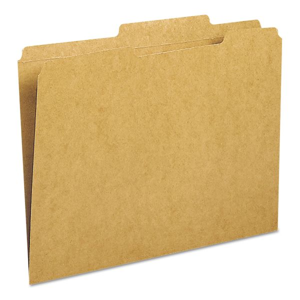 Smead Kraft File Folder, 2/5 Cut Right, Two-Ply Top Tab, Letter, Kraft, 100/Box