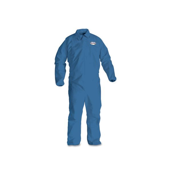 KleenGuard* A60 Elastic-Cuff & Back Coveralls, Blue, Large, 24/Case