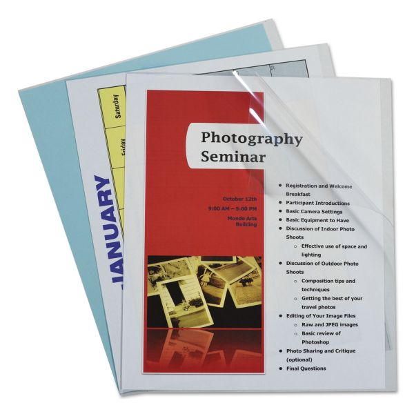 C-Line Report Covers, Vinyl, Clear, 8 1/2 x 11, 100/BX