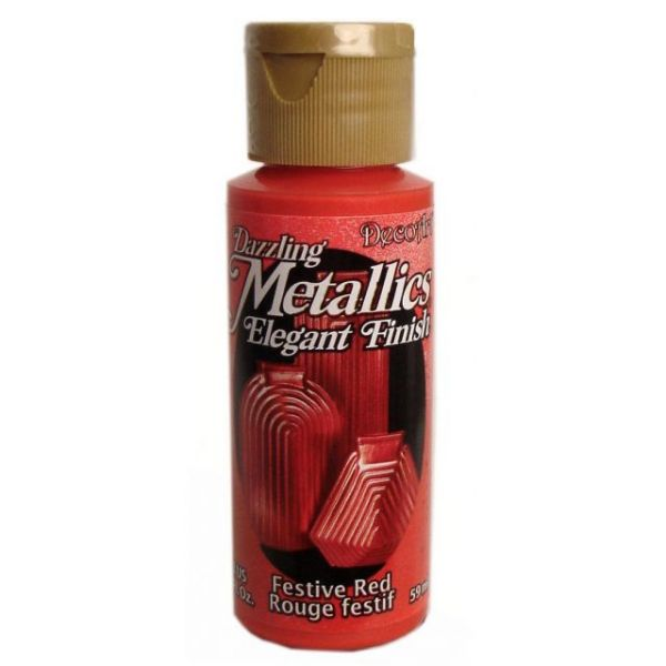 Deco Art Festive Red Dazzling Metallics Elegant Finish Acrylic Paint