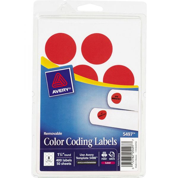 Avery Round Removable Color Coding Labels