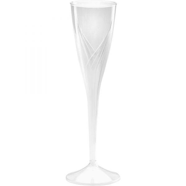 WNA Classicware One-Piece 5 oz Plastic Champagne Flutes