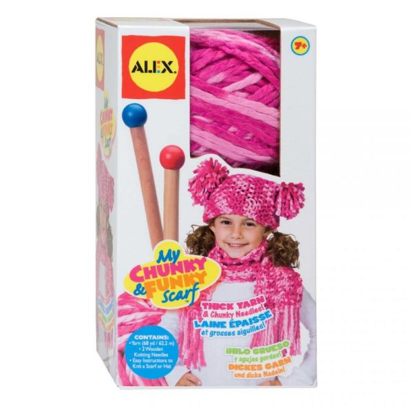 ALEX Toys My Chunky & Funky Scarf Knitting Kit