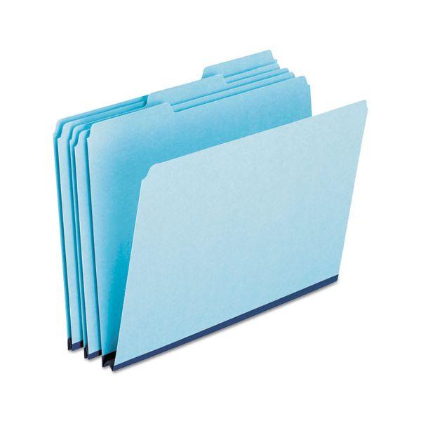 Pendaflex Pressboard Expanding File Folders, 1/3 Cut Top Tab, Letter, Blue, 25/Box