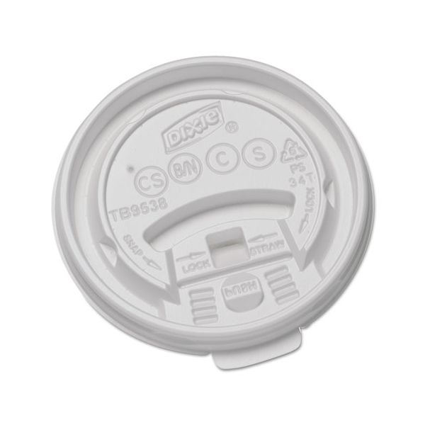 Dixie Tear-Back and Lock Coffee Cup Lids