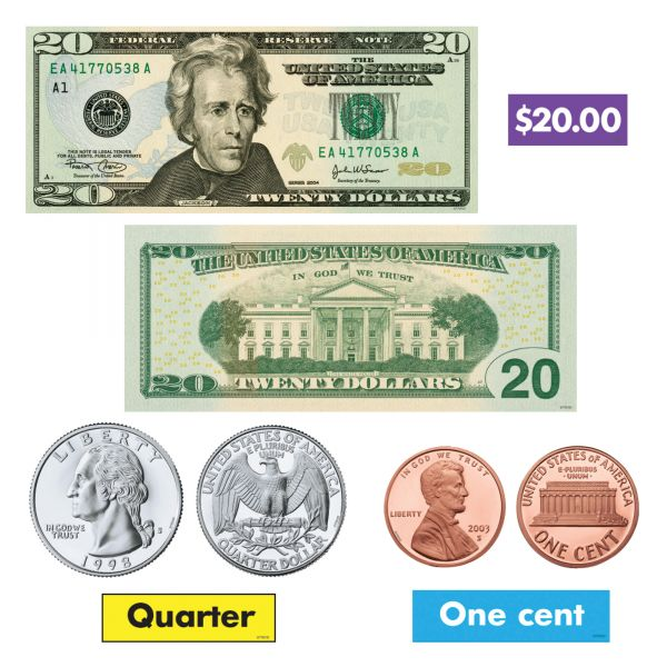 Trend US Money Bulletin Board Set
