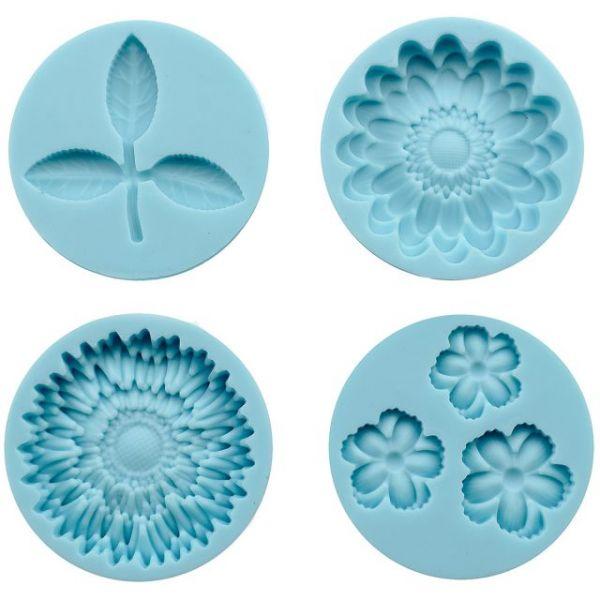 Martha Stewart Crafter's Clay Silicone Molds 4/Pkg