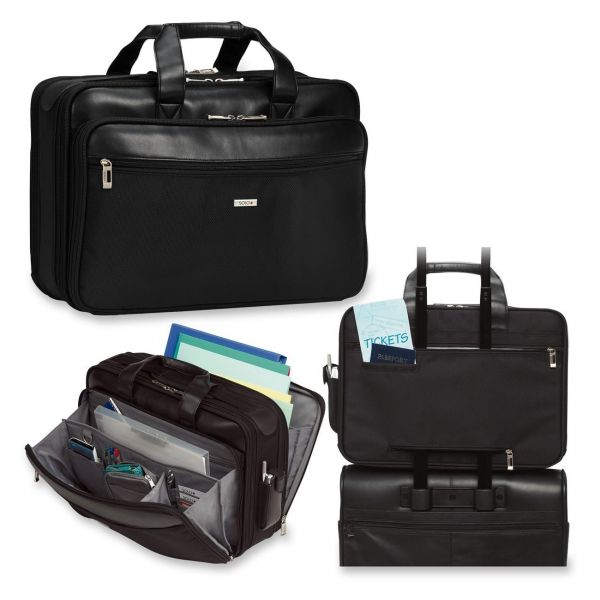 """Solo Classic Carrying Case (Briefcase) for 16"""" Notebook, Accessories - Black"""