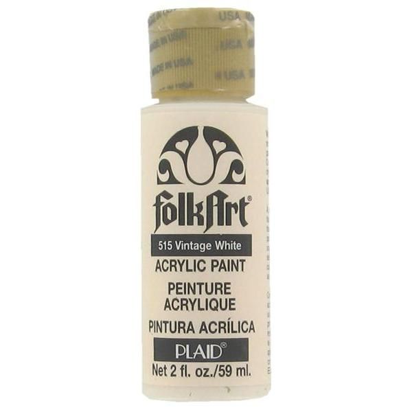 Folk Art Vintage White Acrylic Paint