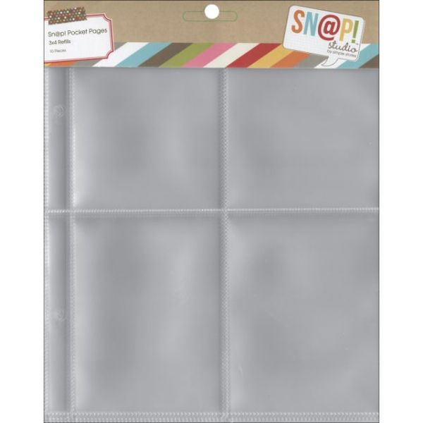 "Sn@p! Pocket Pages For 6""X8"" Binders 10/Pkg"
